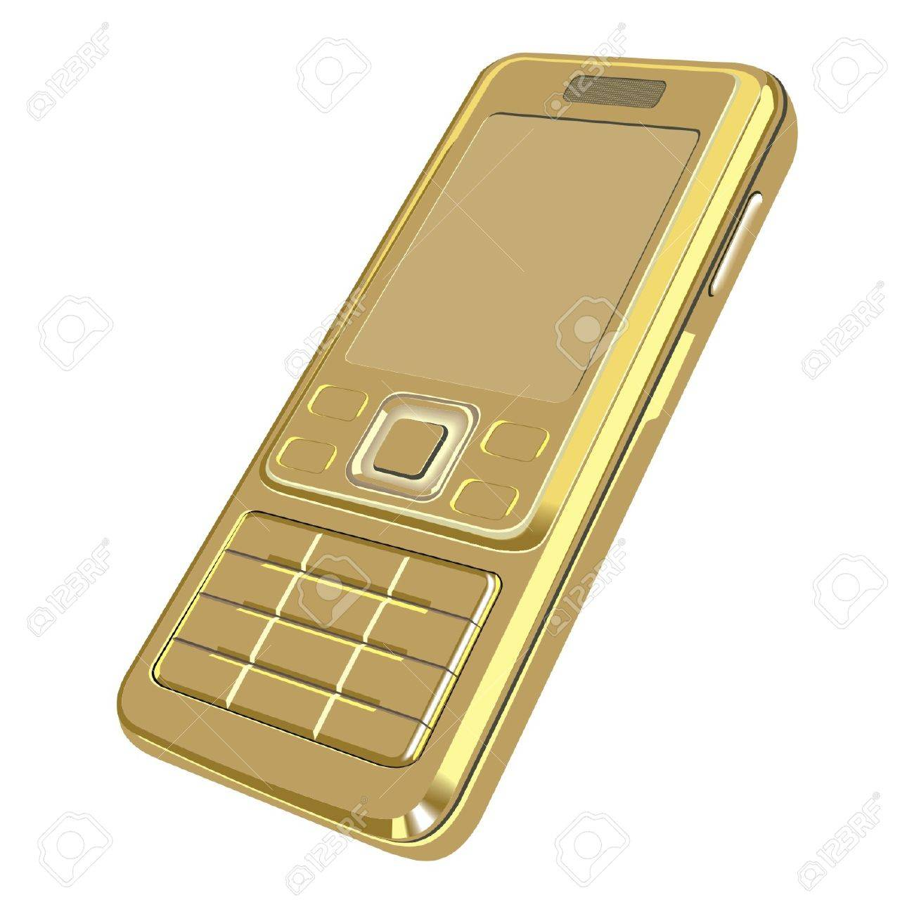 gold telephon Stock Vector - 17365188