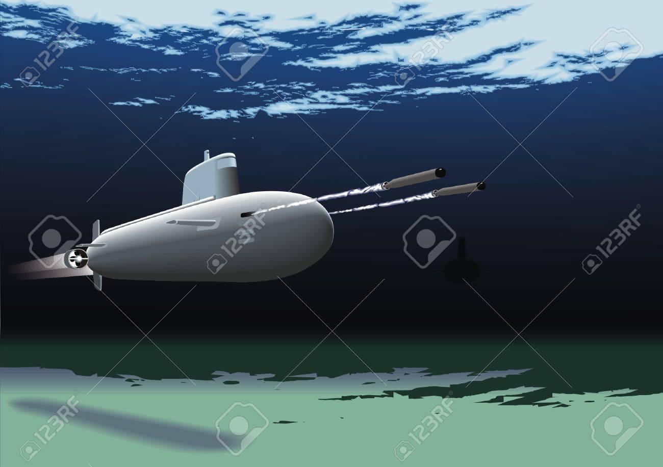 submarine Stock Vector - 28457802