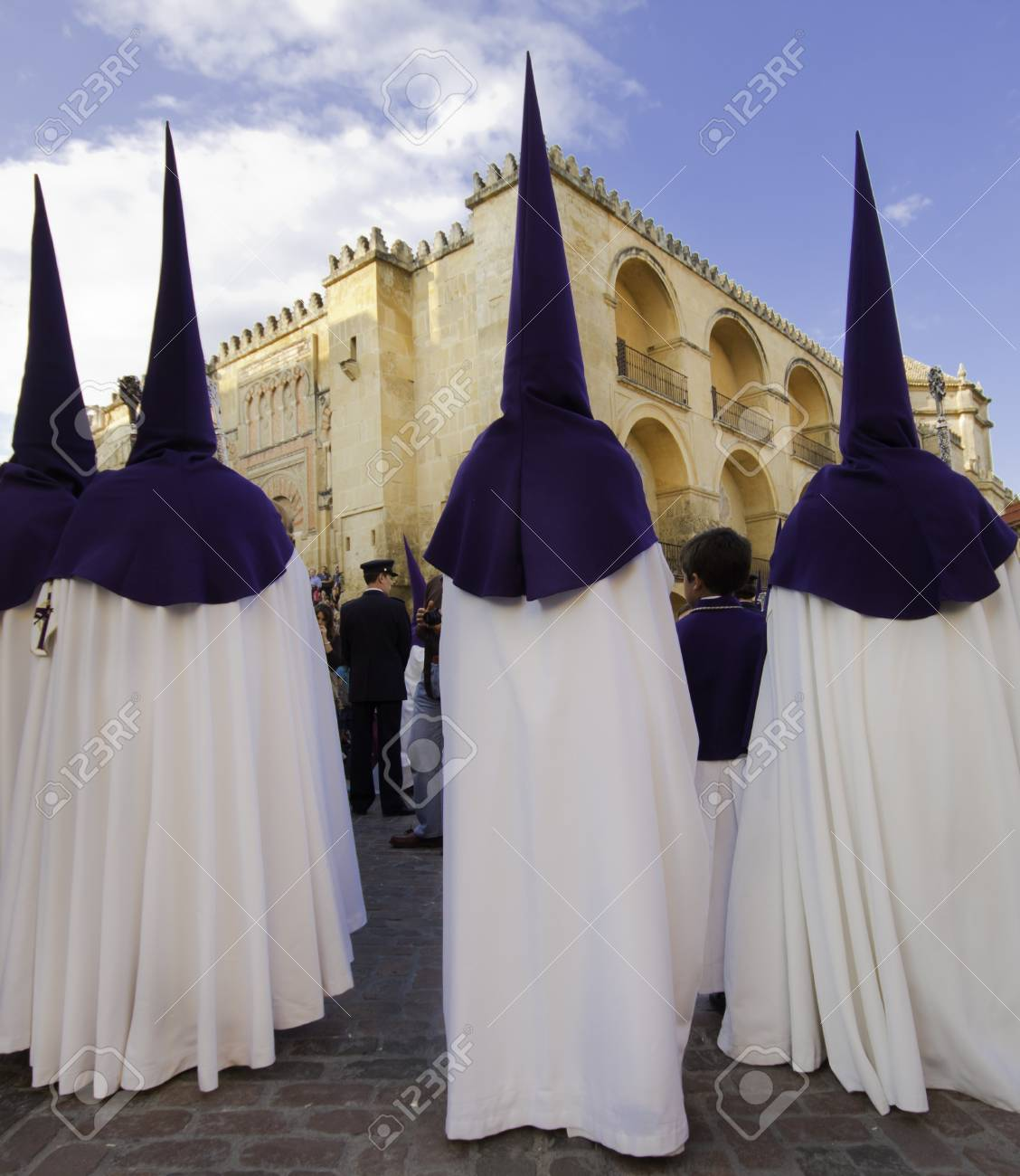 The extraordinarily  Christianprocession of the Semana Santa  Holy Week  in Andalusia, Spain  Stock Photo - 12943965