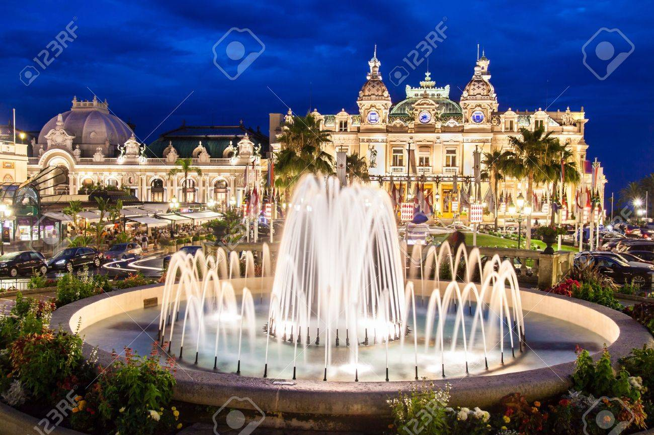 The Monte Carlo Casino is a gambling and entertainment complex located in Monte Carlo, Monaco, Cote de Azul, France, Europe. It includes a casino, the Grand Thetre de Monte Carlo, and the office of Les Ballets de Monte Carlo. Stock Photo - 15927687