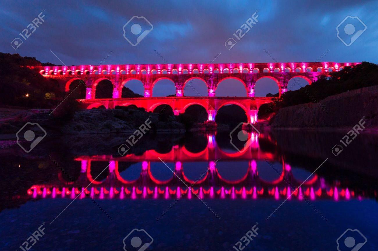 The Pont Du Gard Bridge Of The Gard Is An Ancient Roman Aqueduct