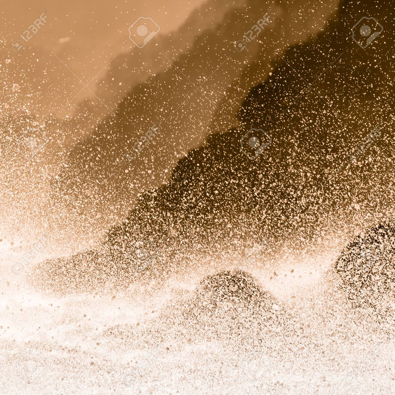Dramatic seascape in Mediterranean sea in Chinque Terre national park in Italy. Stock Photo - 22636111