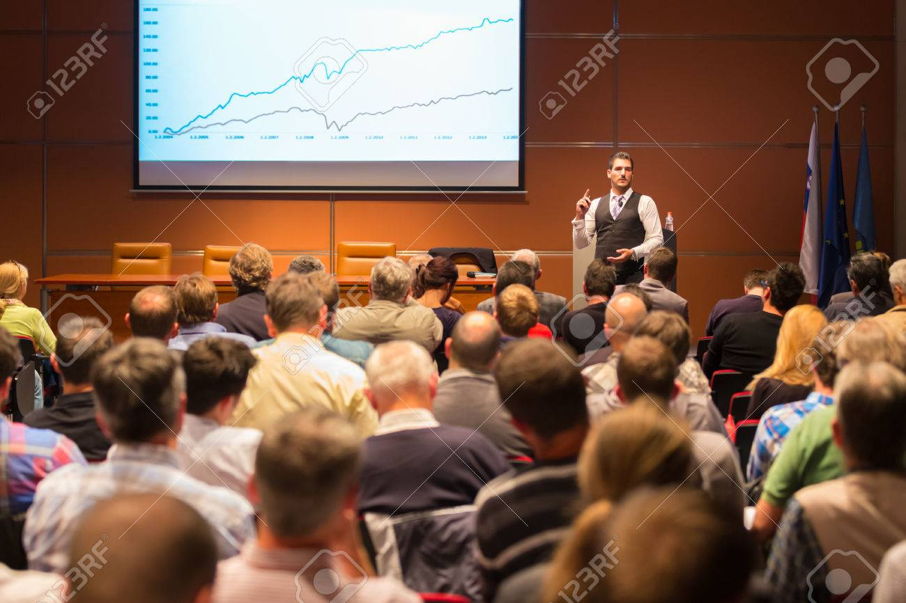 Speaker at Business Conference and Presentation. Audience at the conference hall. Business and Entrepreneurship. - 32441080