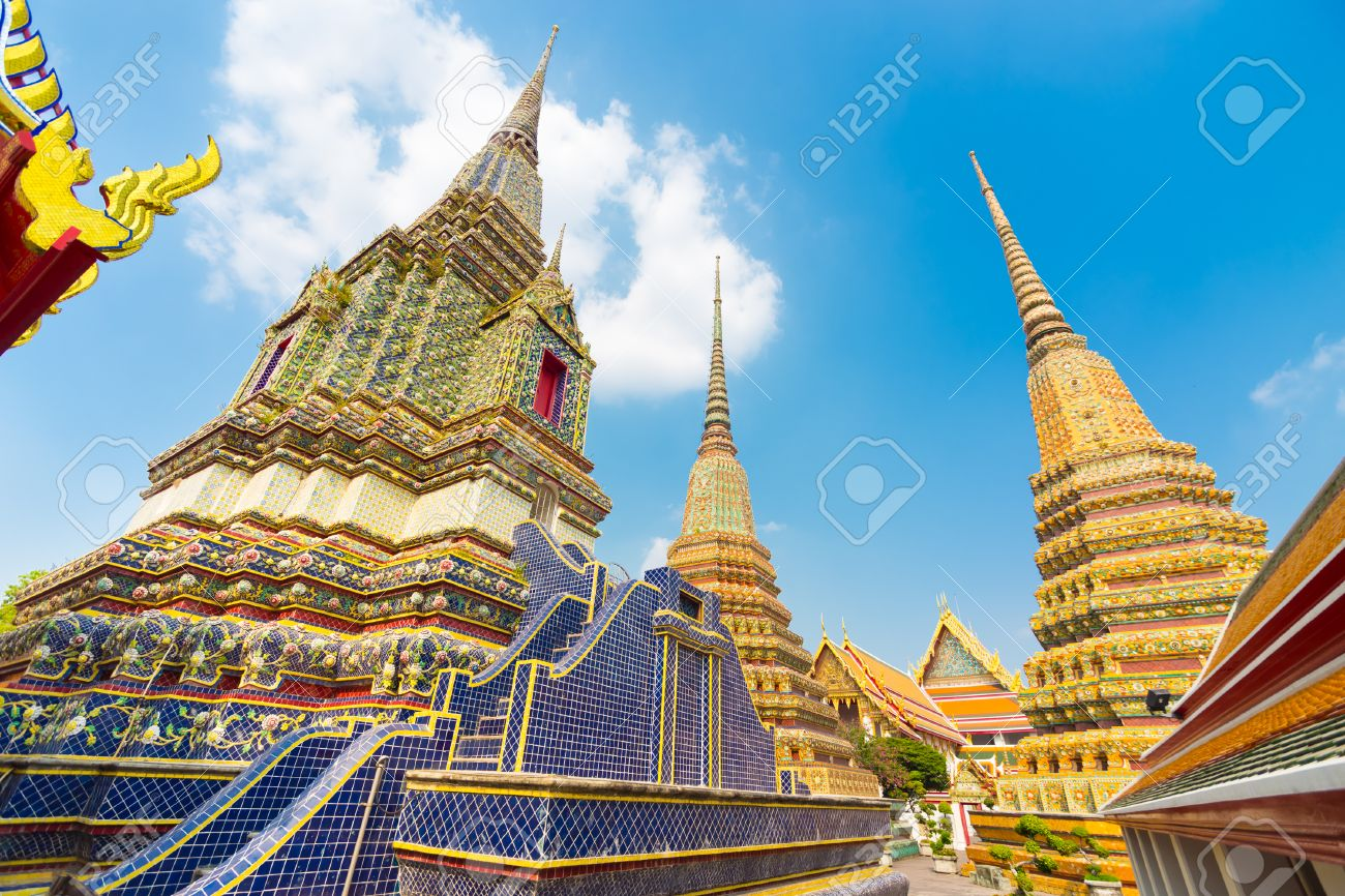 Pagodas of Wat Pho the Temple of the Reclining Buddha or Wat Phra Chetuphon. & Pagodas Of Wat Pho The Temple Of The Reclining Buddha Or Wat ... islam-shia.org