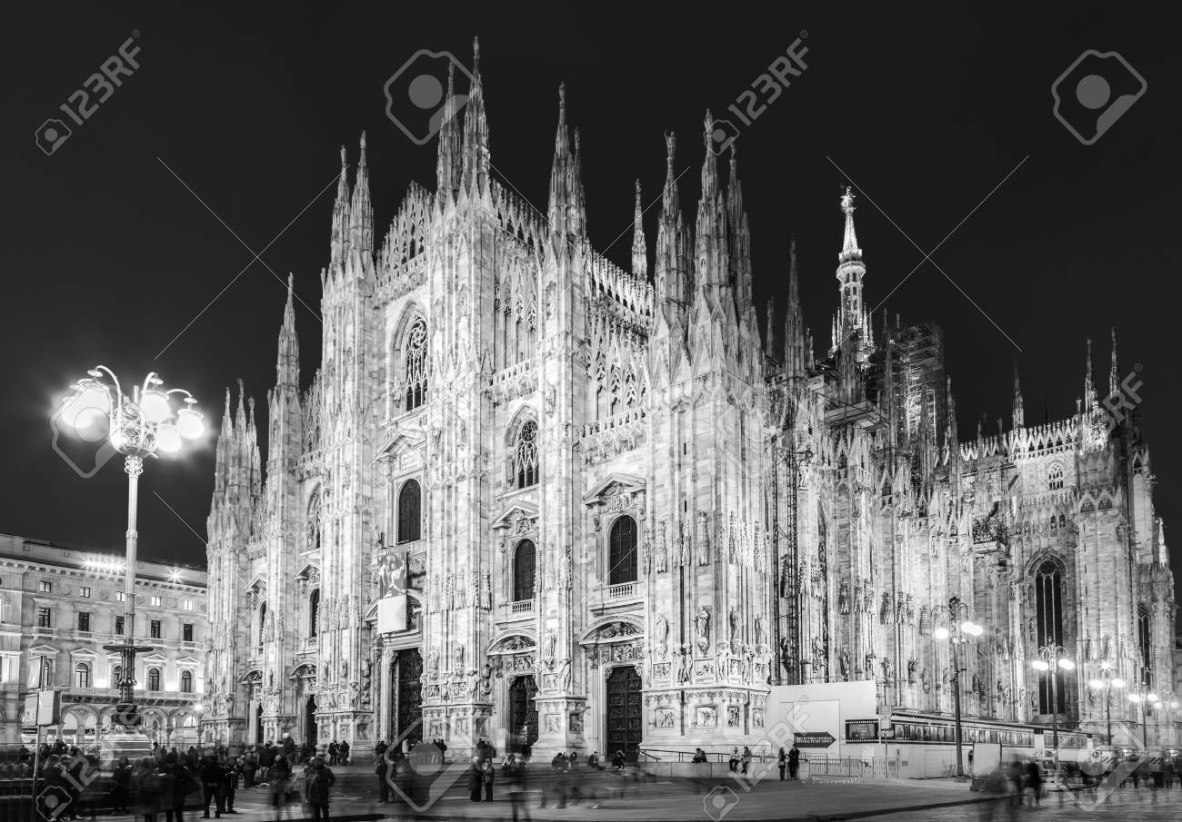 Milan Cathedral Duomo Di Milano Famous Gothic Church Of Italy