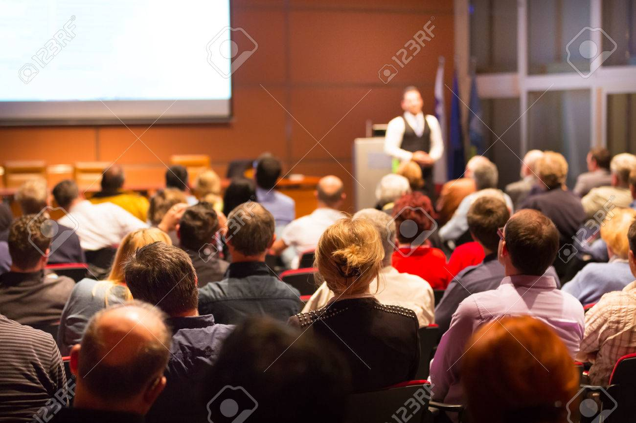 Business Conference and Presentation. Audience at the conference hall. Business and Entrepreneurship. Standard-Bild - 52231838