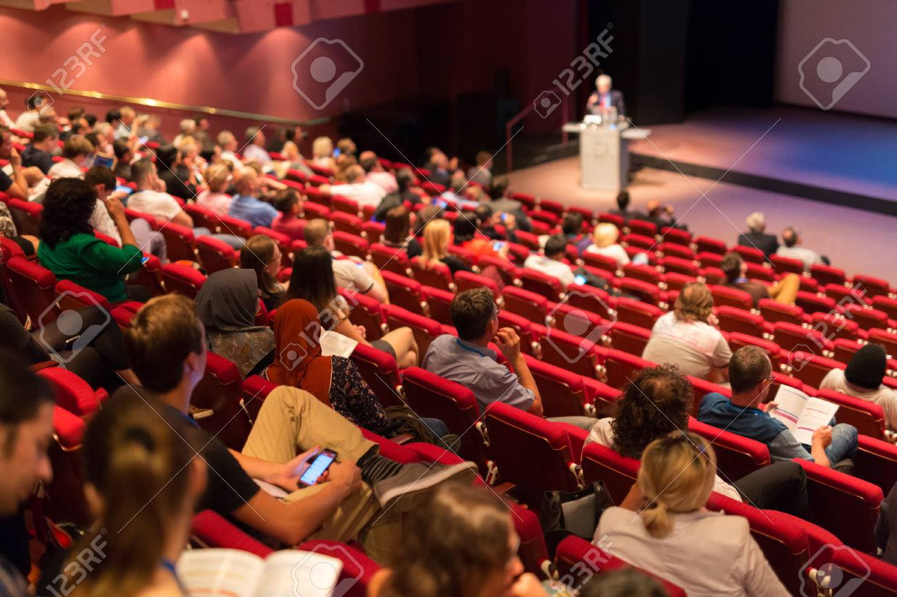 Conference and Presentation. Audience at the conference hall. Business and Entrepreneurship. Faculty lecture and workshop. Audience in the lecture hall. Academic education. Student making notes. Standard-Bild - 65018065
