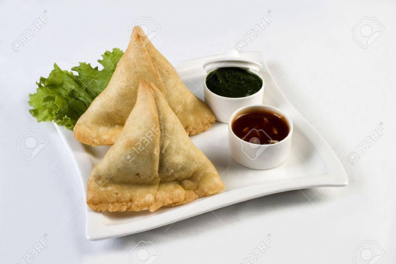 Indian Snack  food, Samosa Stock Photo - 8240295
