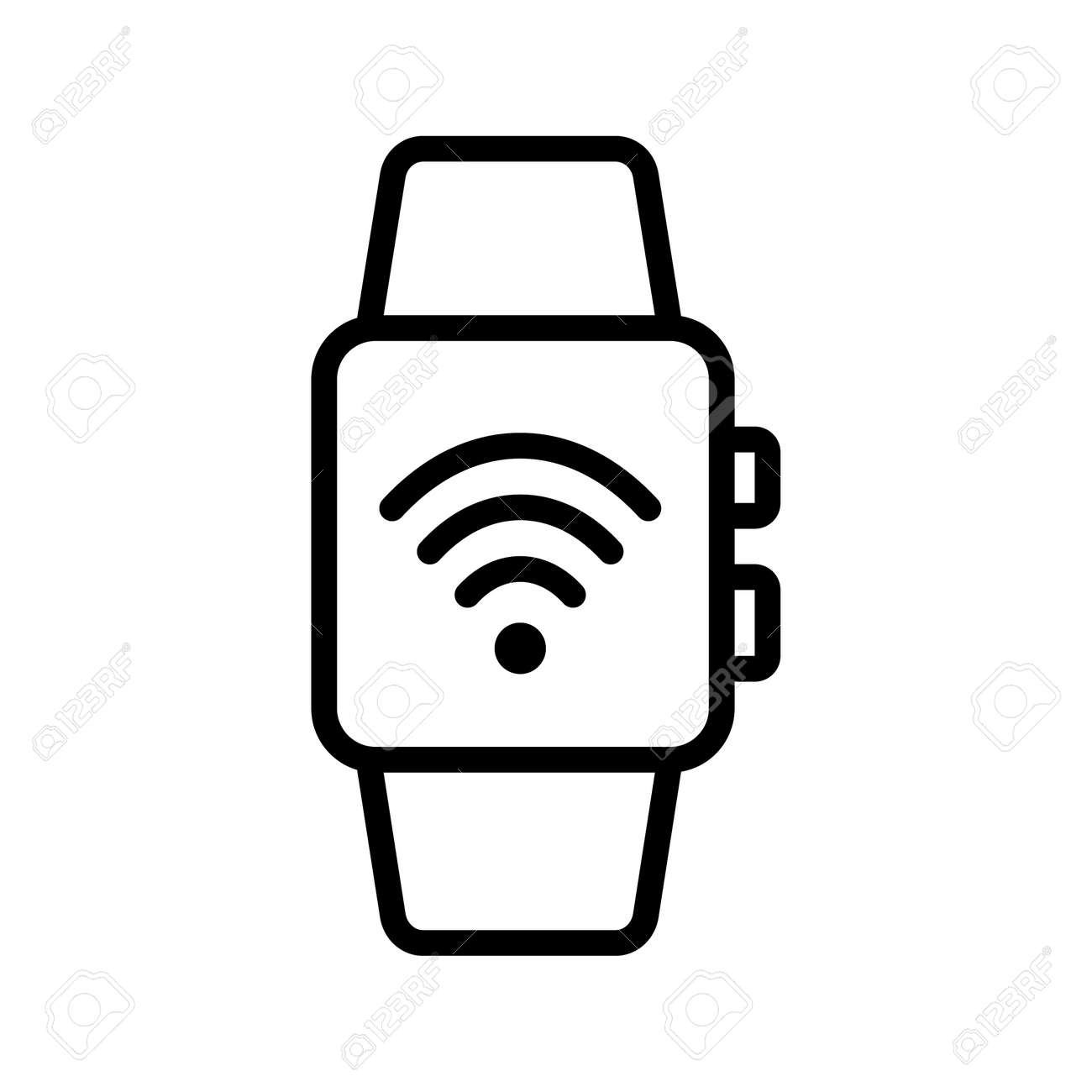 Nfc payment outline vector icon. Online transaction. For web design and printing. - 152957258