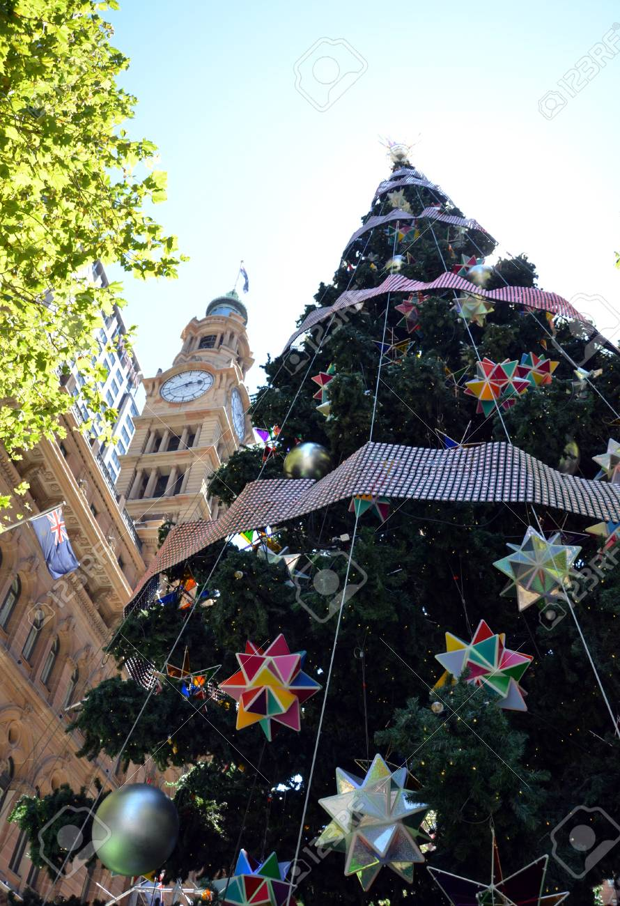 Tall Christmas Tree Decorating Ideas.Tall Outdoor Christmas Tree With Decoration Summer In Martin