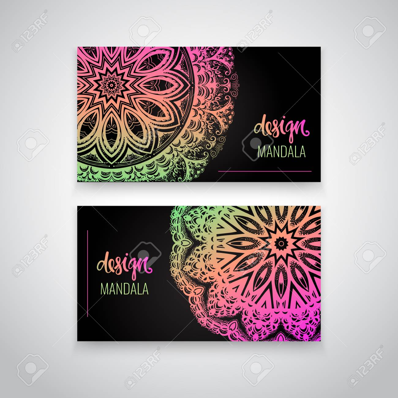 Set of modern business card templates with beautiful indian ornament set of modern business card templates with beautiful indian ornament mandala stock vector 90651522 colourmoves