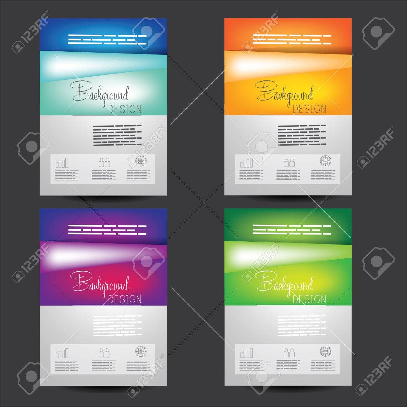 set of professional business red flyer template brochure or vector set of professional business red flyer template brochure or cover design or corporate banner design for publishing print and presentation eps 10