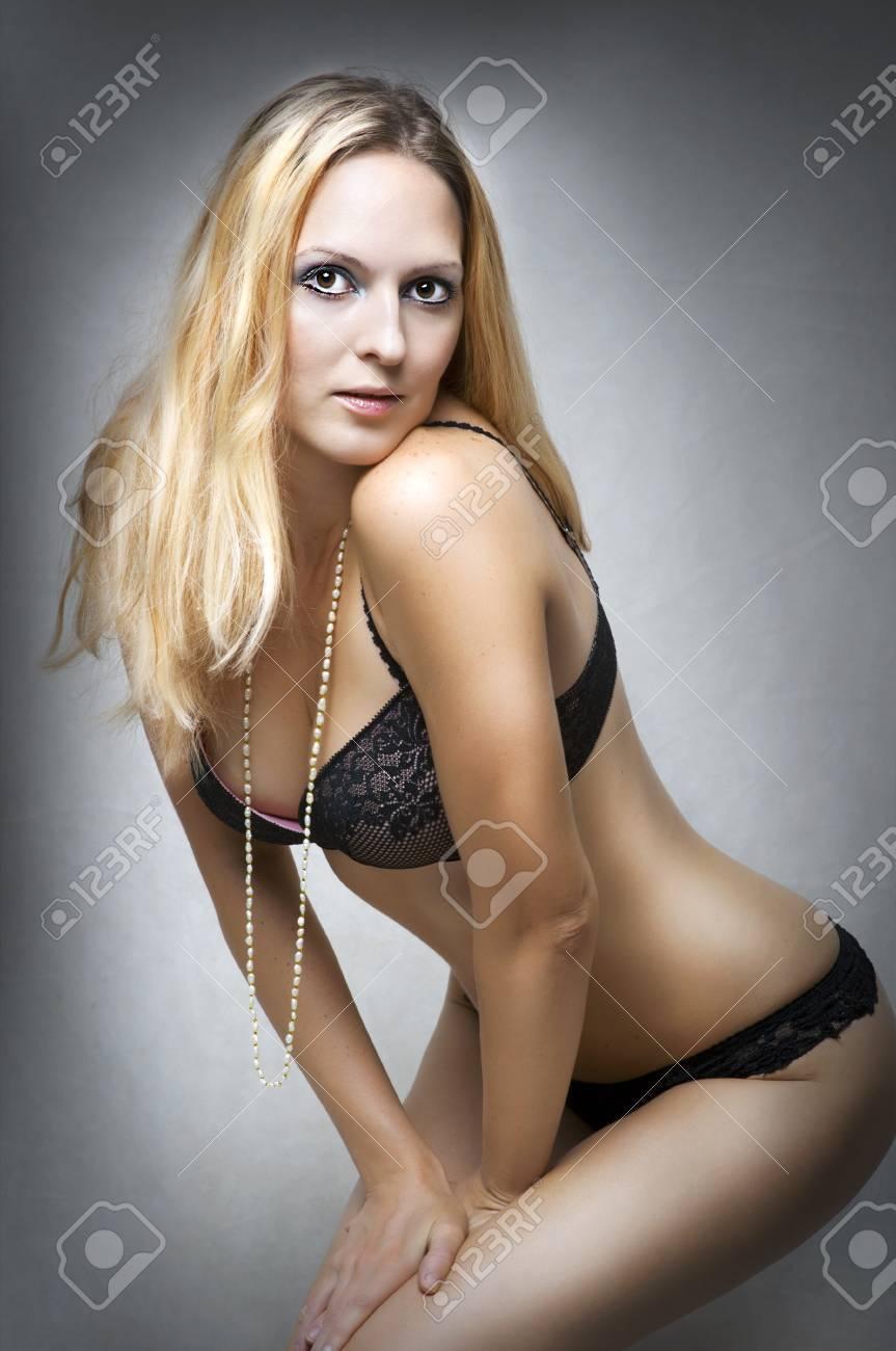 e455332e520 Sexy underwear female model. Fashion portrait of young beautiful woman  wearing sexy lingerie Stock Photo