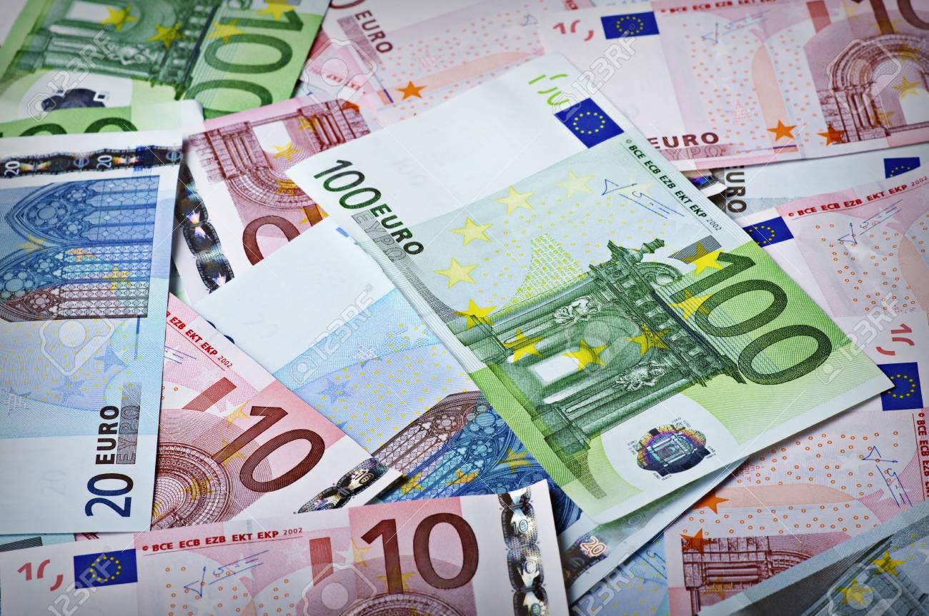 Background from money - 100 euro; 10 euro; 20 euro Stock Photo - 12390484