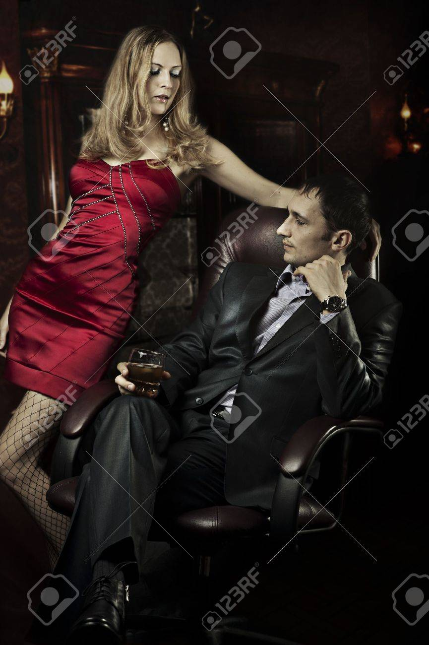 Luxury beautiful couple in room of their home Stock Photo - 12899506