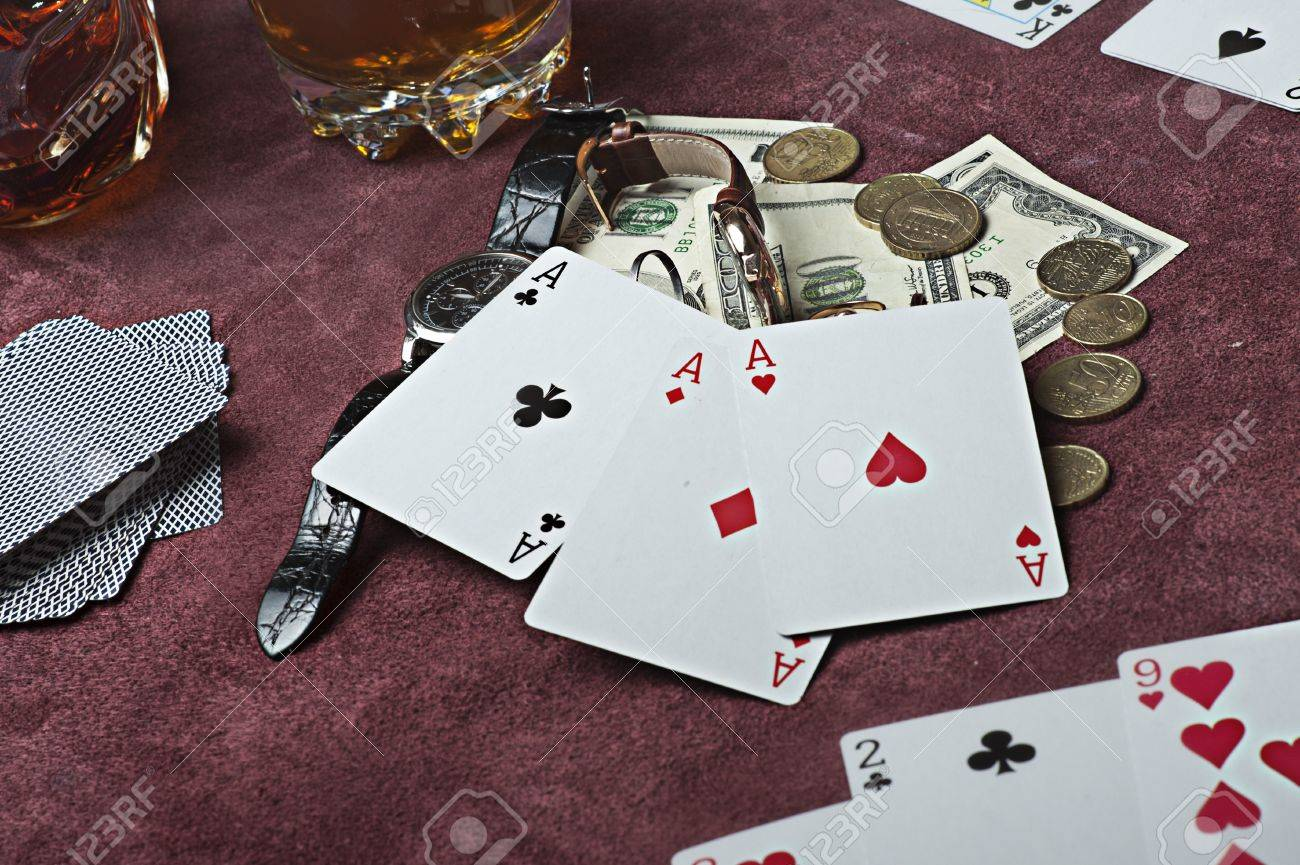 Poker concept. Win - three aces Stock Photo - 12977907