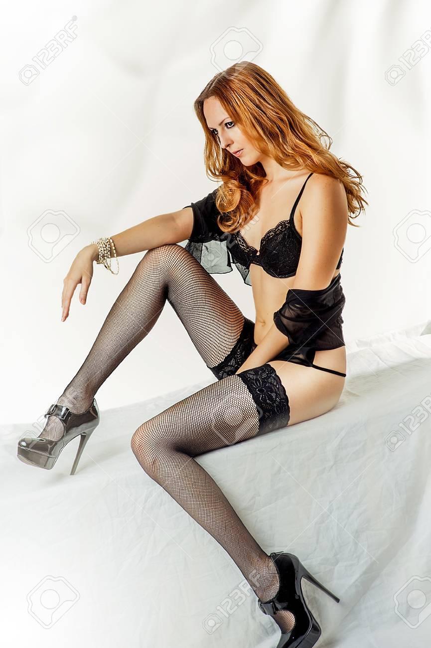 Tacón Joven La Zapatos Mujer Con De Lencería Negro Alto Sexy n1ZwA8qP1F