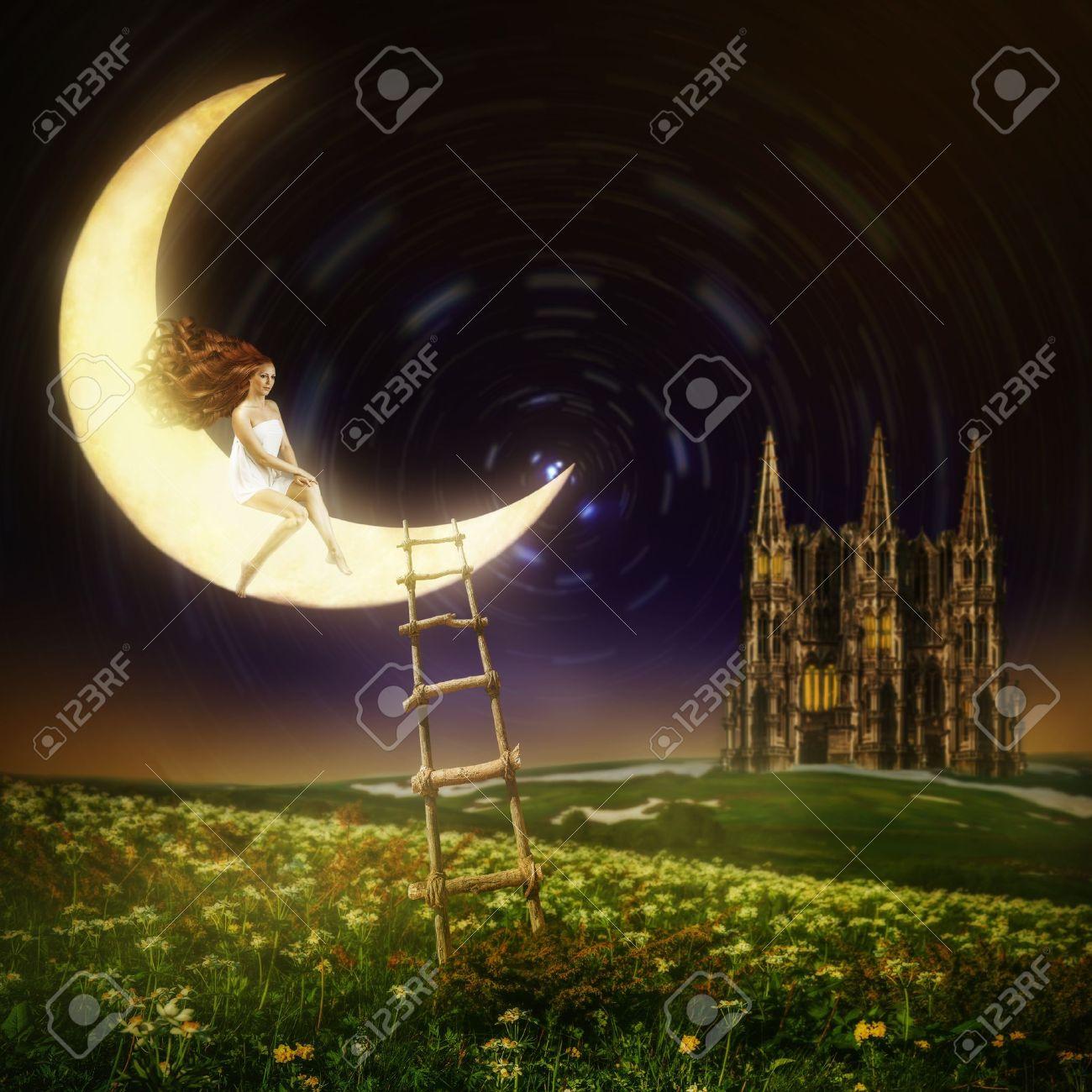 http://previews.123rf.com/images/katalinks/katalinks1306/katalinks130600021/20258587-Wonderland-Belle-princesse-femme-assise-sur-la-lune-dans-le-ciel-de-nuit-avec-les-toiles-Banque-d'images.jpg