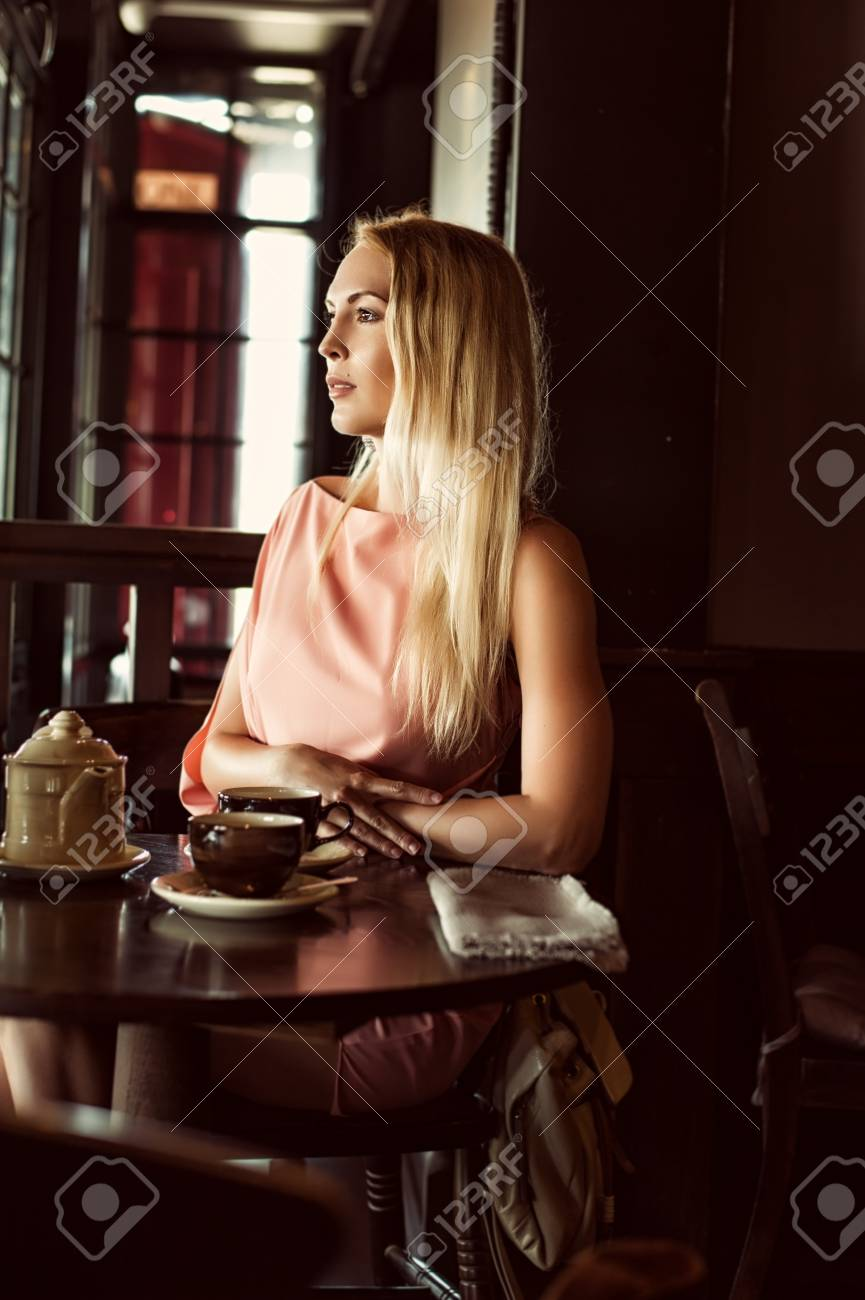 Beautiful Fashion Woman In Asymmetrical Gently Pink Dress In Stock Photo Picture And Royalty Free Image Image 96439943