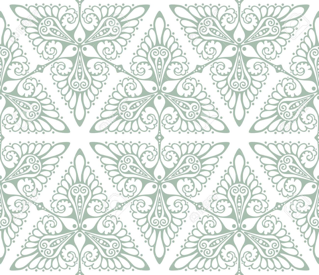 art nouveau inspired background pattern seamless vector