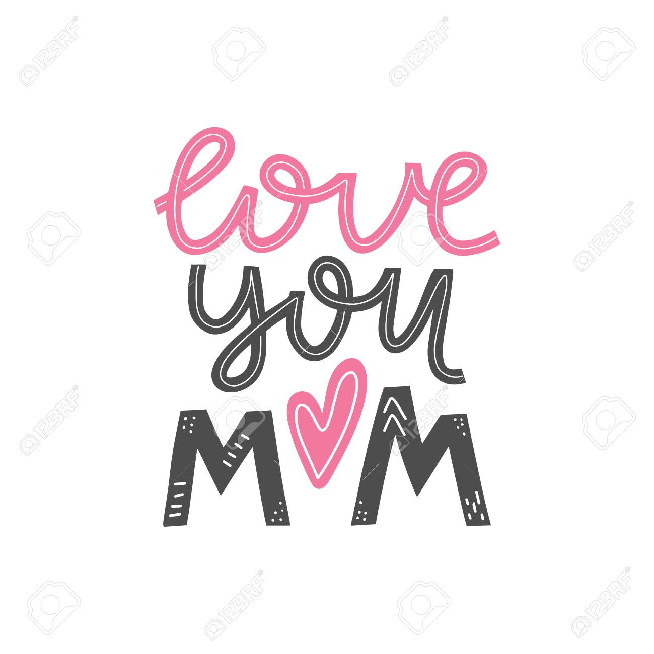 picture regarding Happy Mothers Day Printable Card named Appreciate by yourself mother lettering card. Pleased moms working day greeting card