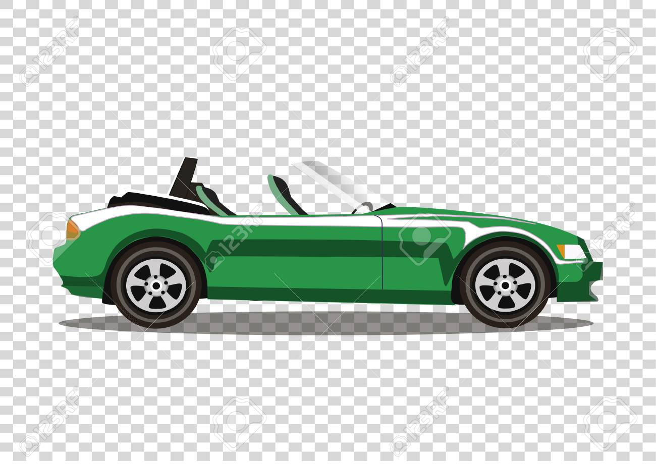 Green Modern Cartoon Cabriolet Car Isolated On Transparent Background Royalty Free Cliparts Vectors And Stock Illustration Image 90401576