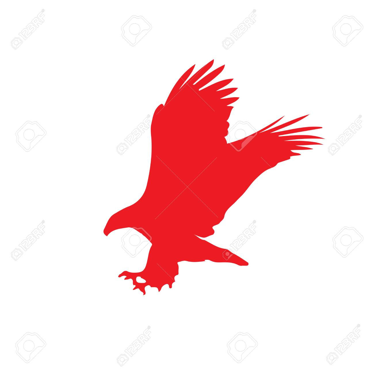 Red silhouette of eagle isolated on white background vector red silhouette of eagle isolated on white background vector illustration clip art icon biocorpaavc Images