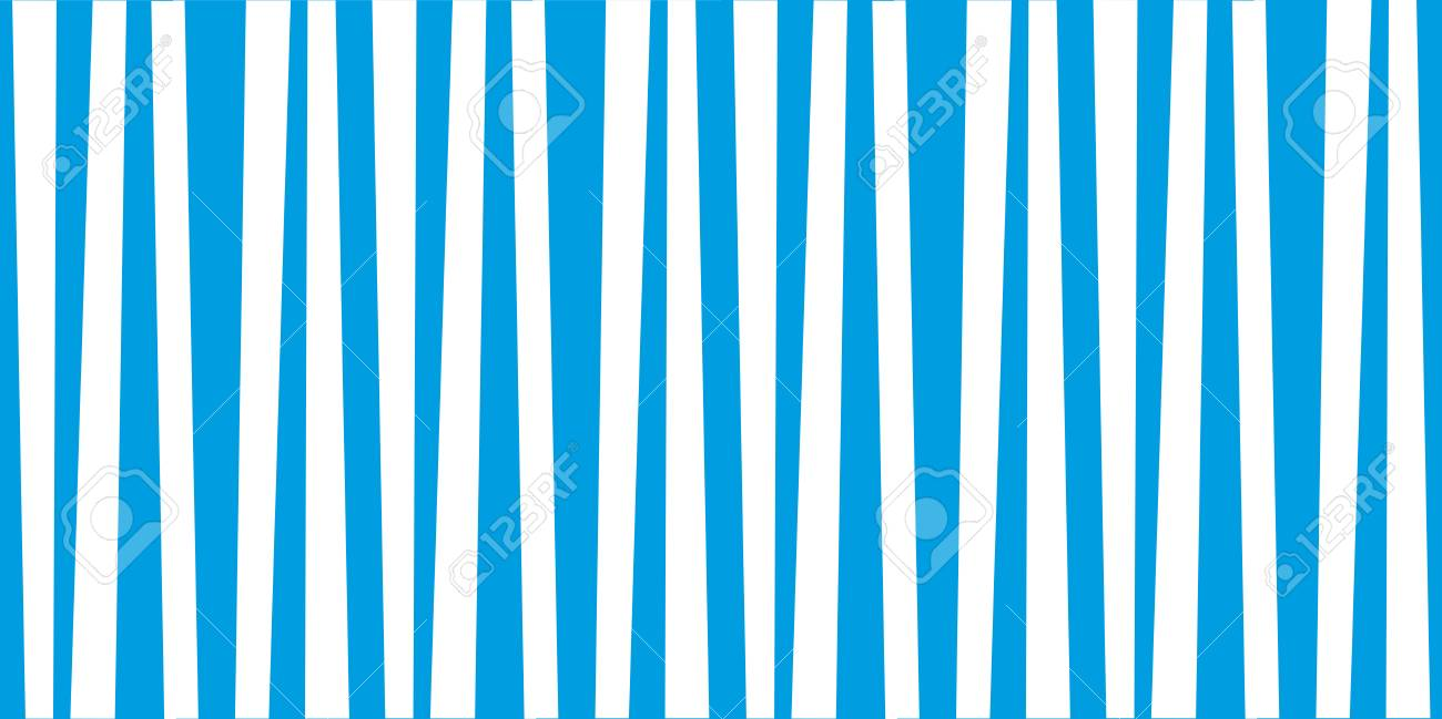 Abstract Vertical Striped Pattern Marine Blue And White Print