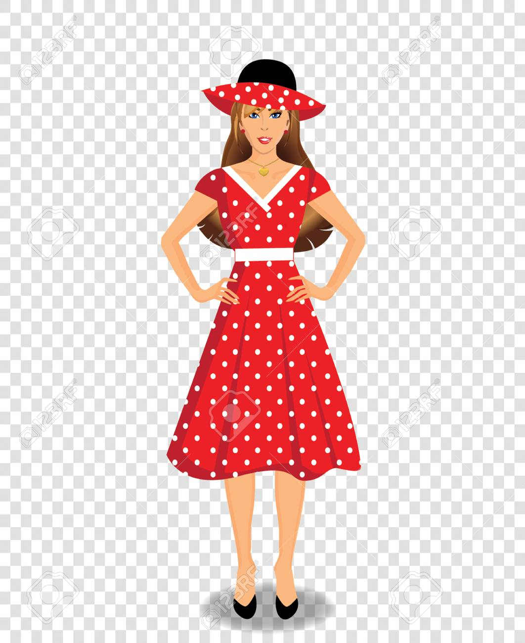 red dress character
