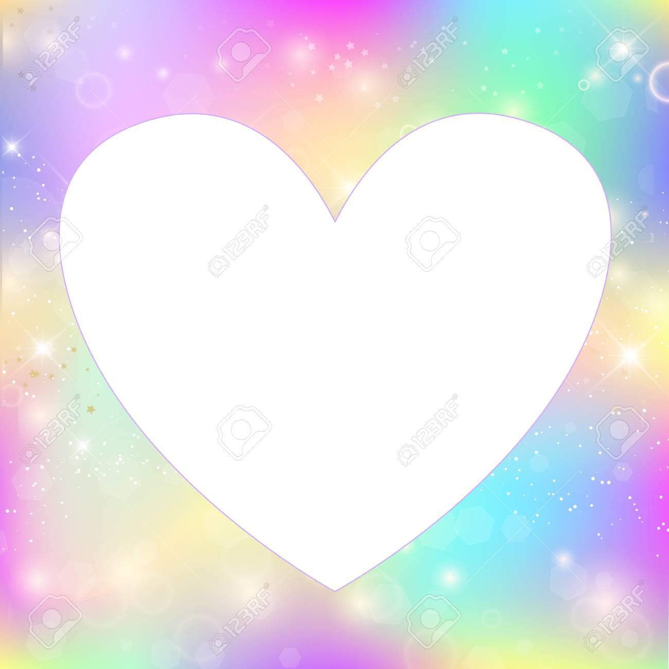 Heart Frame Magic Border With Rainbow Mesh, Girlish Universe ...