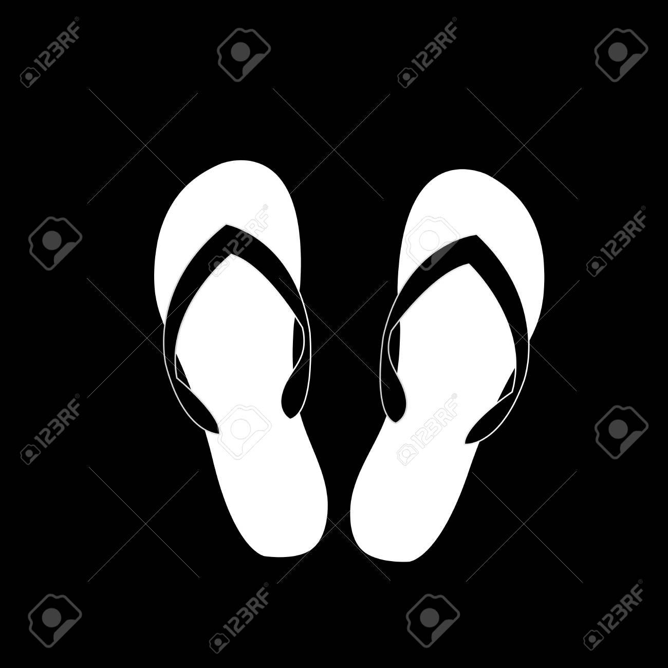 Vector Black And White Monochrome Silhouette Illustration Of