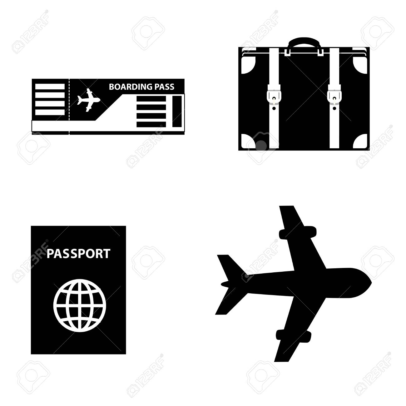 Airplane Ticket Clipart Black And White United Airlines And