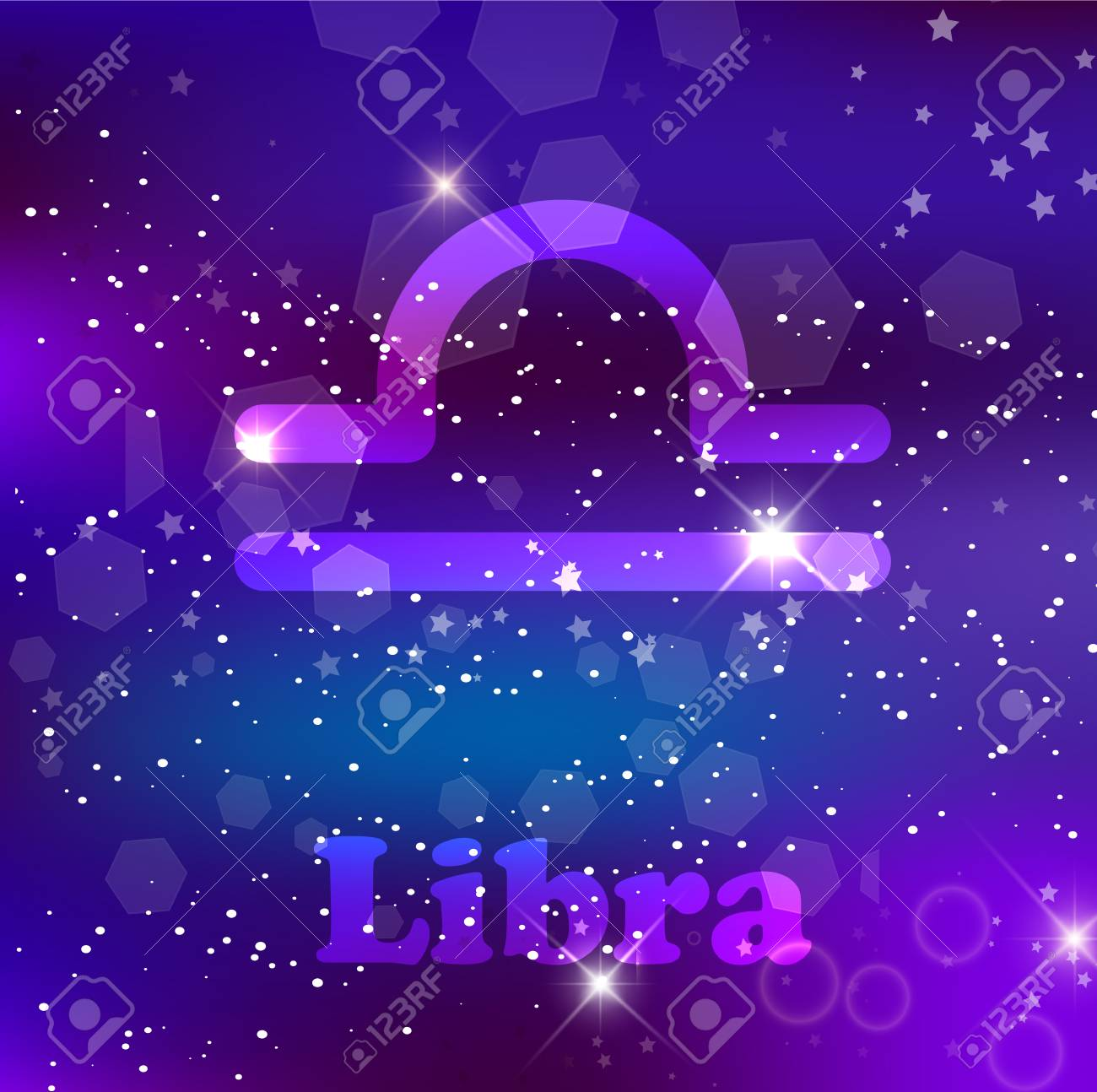 Libra Zodiac Sign And Constellation On Cosmic Purple Background Royalty Free Cliparts Vectors And Stock Illustration Image 114558355