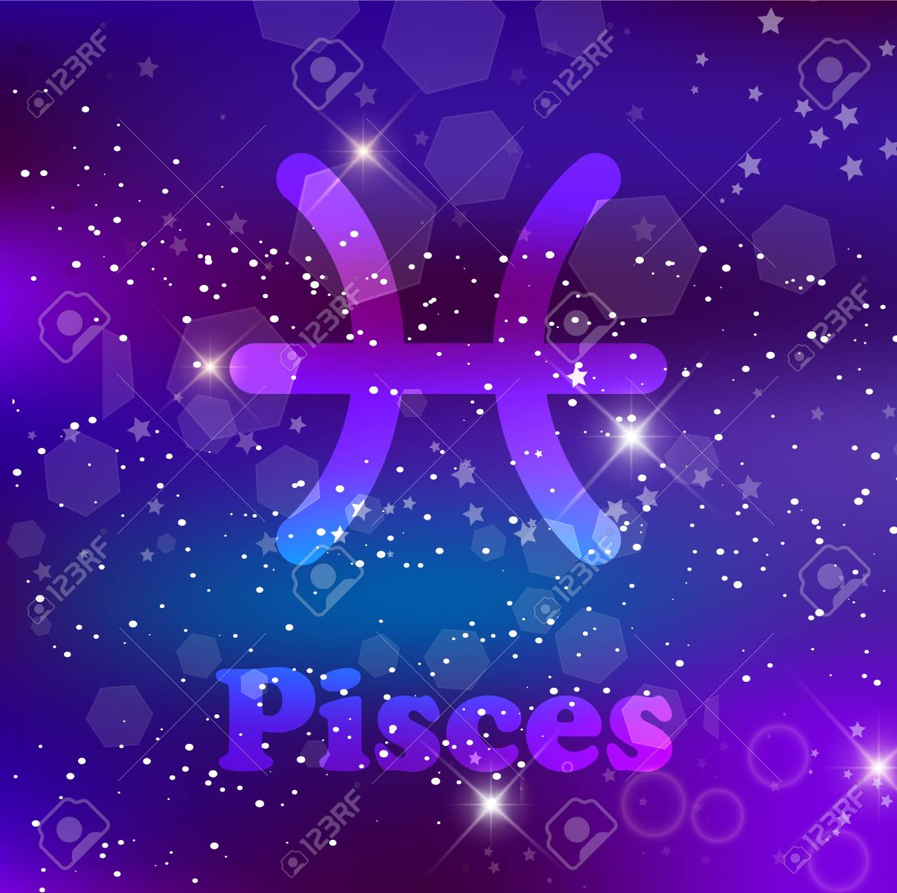 Pisces Zodiac Sign And Constellation On A Cosmic Purple Background Royalty Free Cliparts Vectors And Stock Illustration Image 114558365