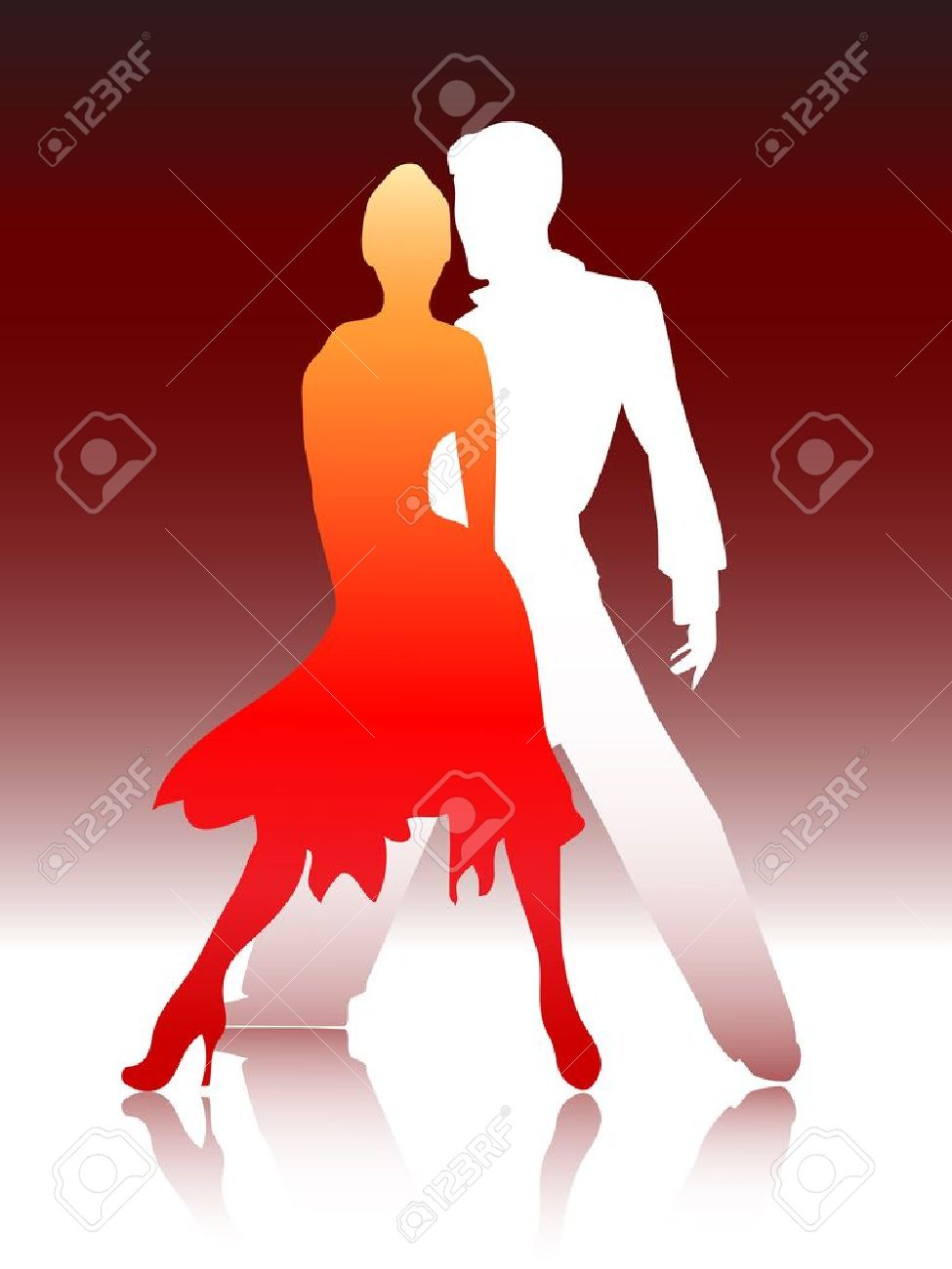Vector illustration of a young couple dancing Stock Vector - 12178189