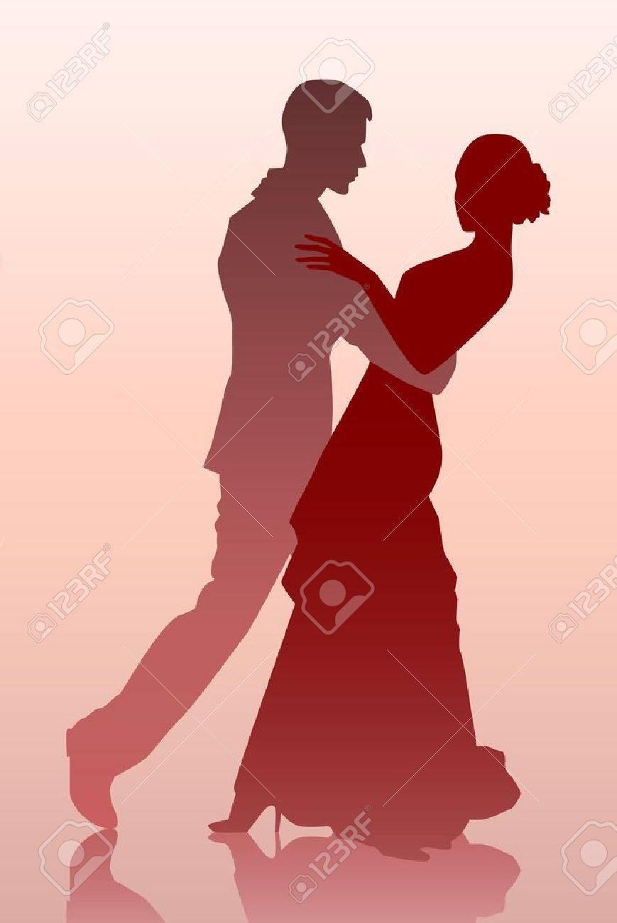 若いカップルのダンスのベクトル イラスト ロイヤリティフリークリップ