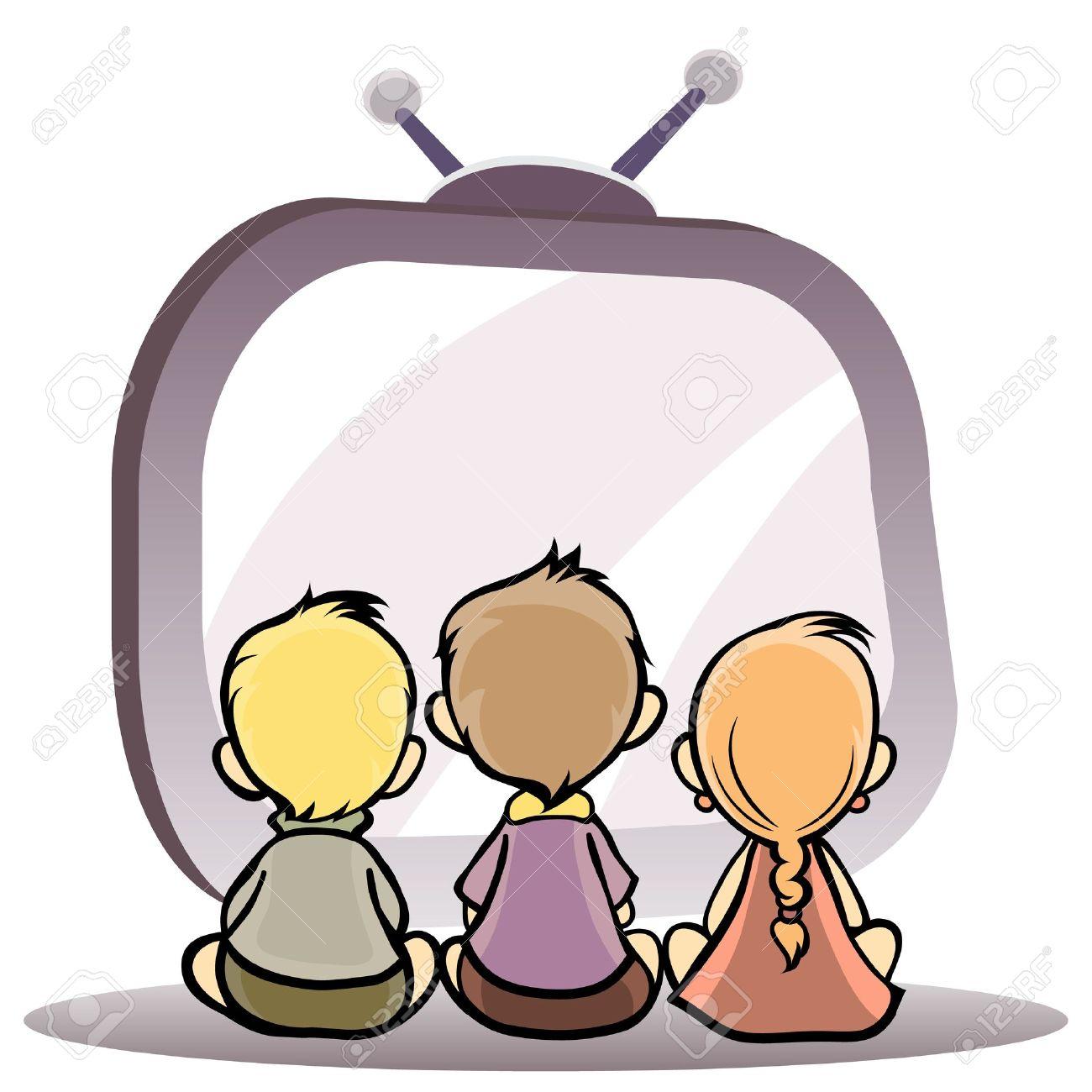Afbeeldingsresultaat voor tv kijken tekening