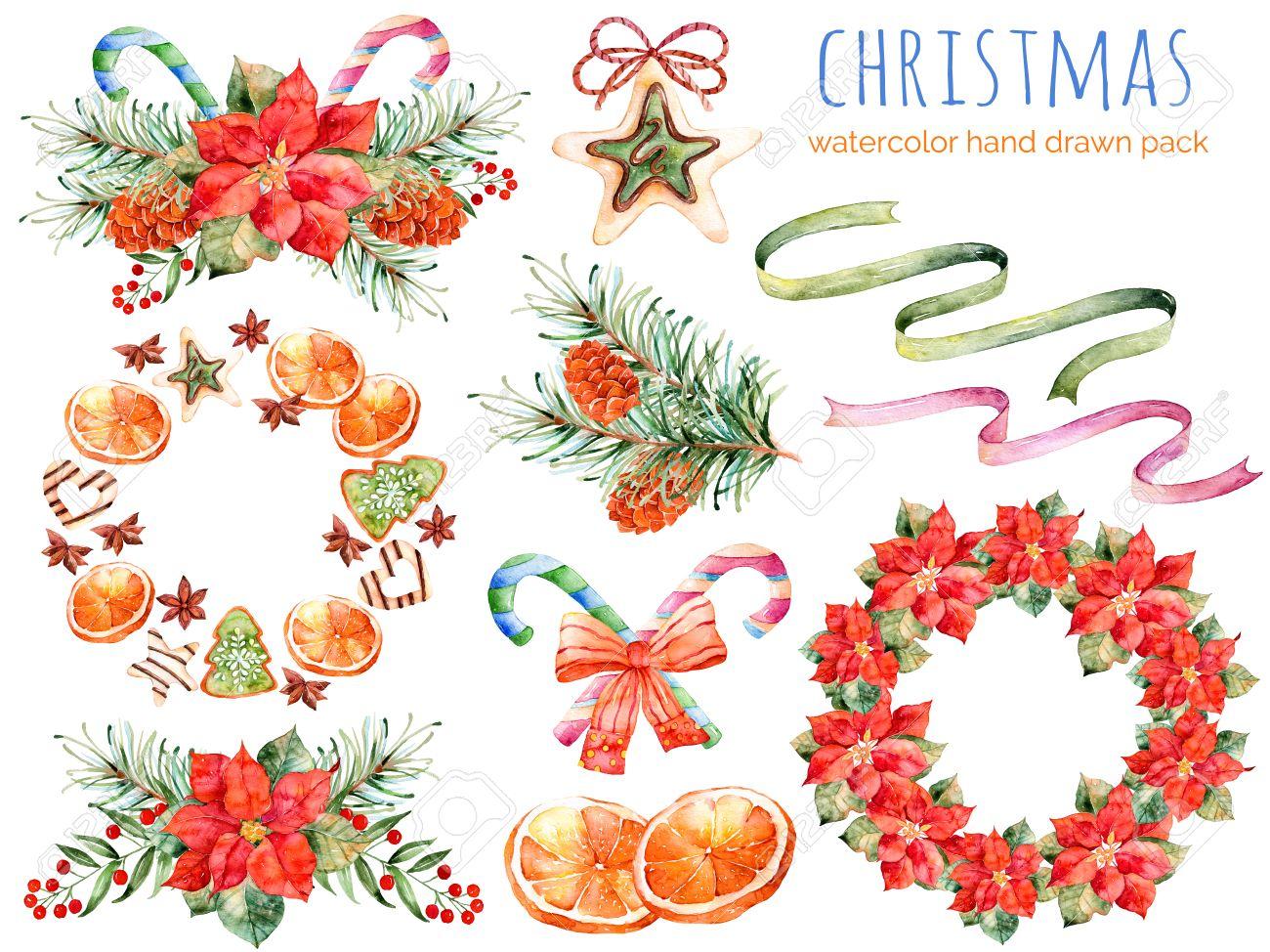 Coleccin De Navidad Coronas Poinsettia Ramos Naranja Pia De