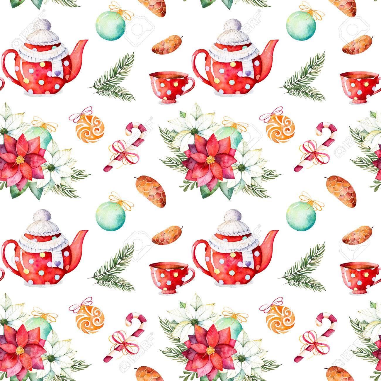 Feliz Navidad Y Feliz Año Nuevo Set.Handpainted Perfecta Textura De ...