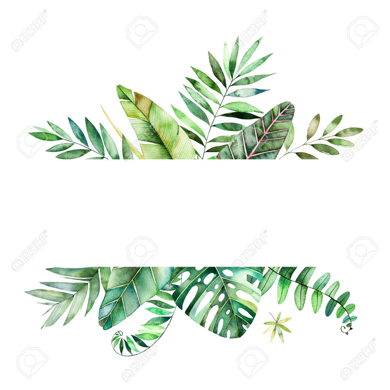 Colorful Floral Frame With Colorful Tropical Leaves Tropical Stock Photo Picture And Royalty Free Image Image 75998994 Check out our tropical leaf quote selection for the very best in unique or custom, handmade pieces from our shops. colorful floral frame with colorful tropical leaves tropical
