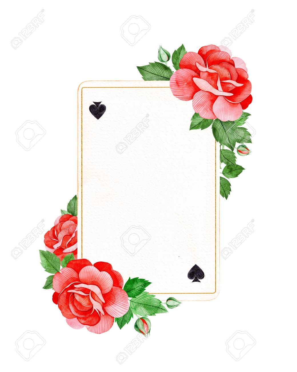 wonderland collection lovely watercolor frame pink flowers