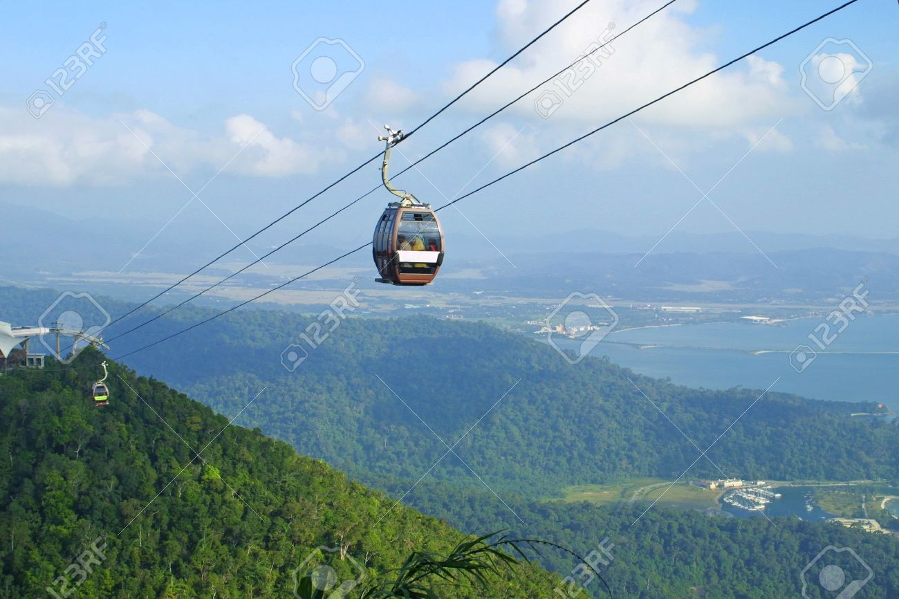 Langkawi hills cable car, Malaysia Stock Photo - 7851575