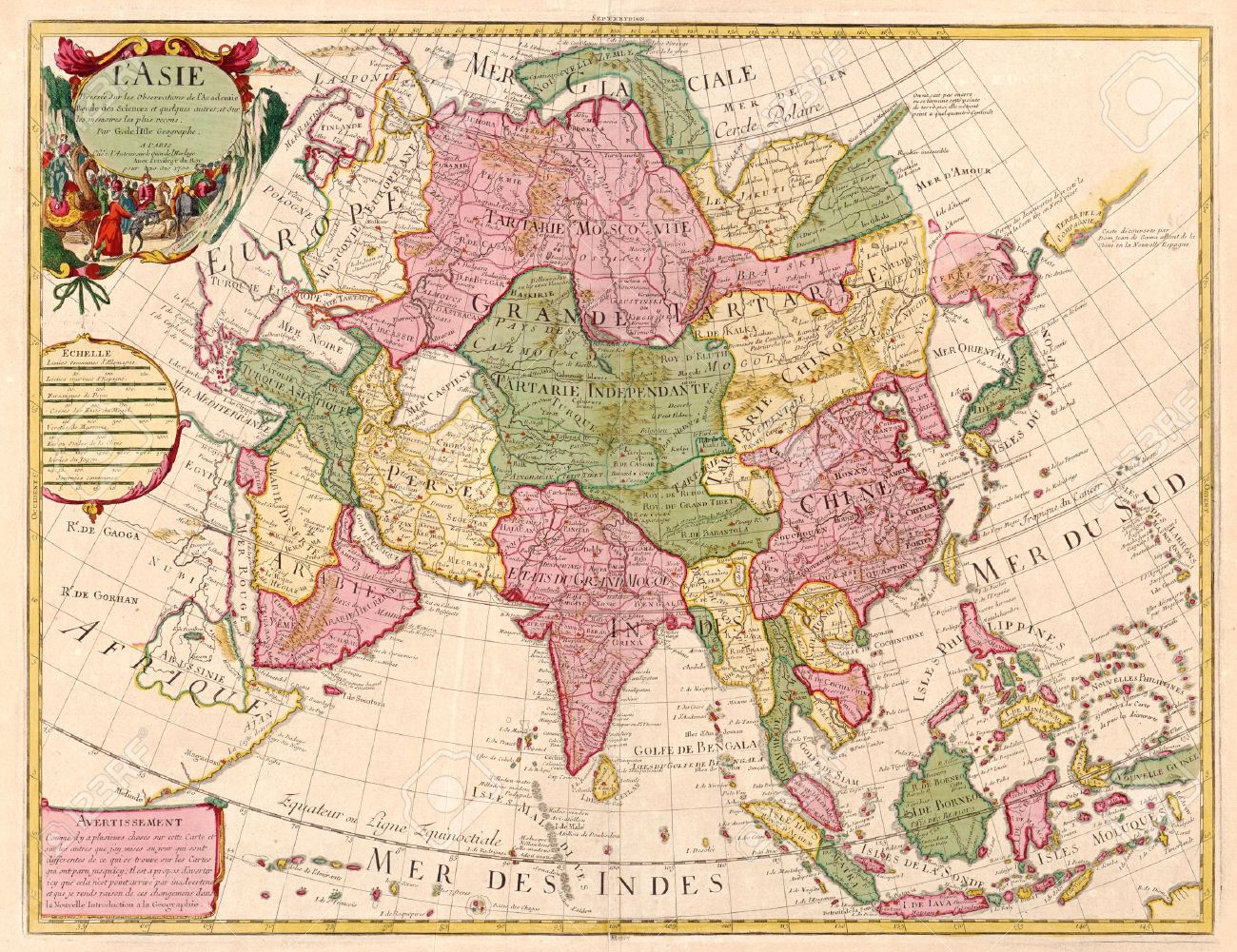 Ancient Asia Map Ancient Map Of Asia Stock Photo, Picture And Royalty Free Image