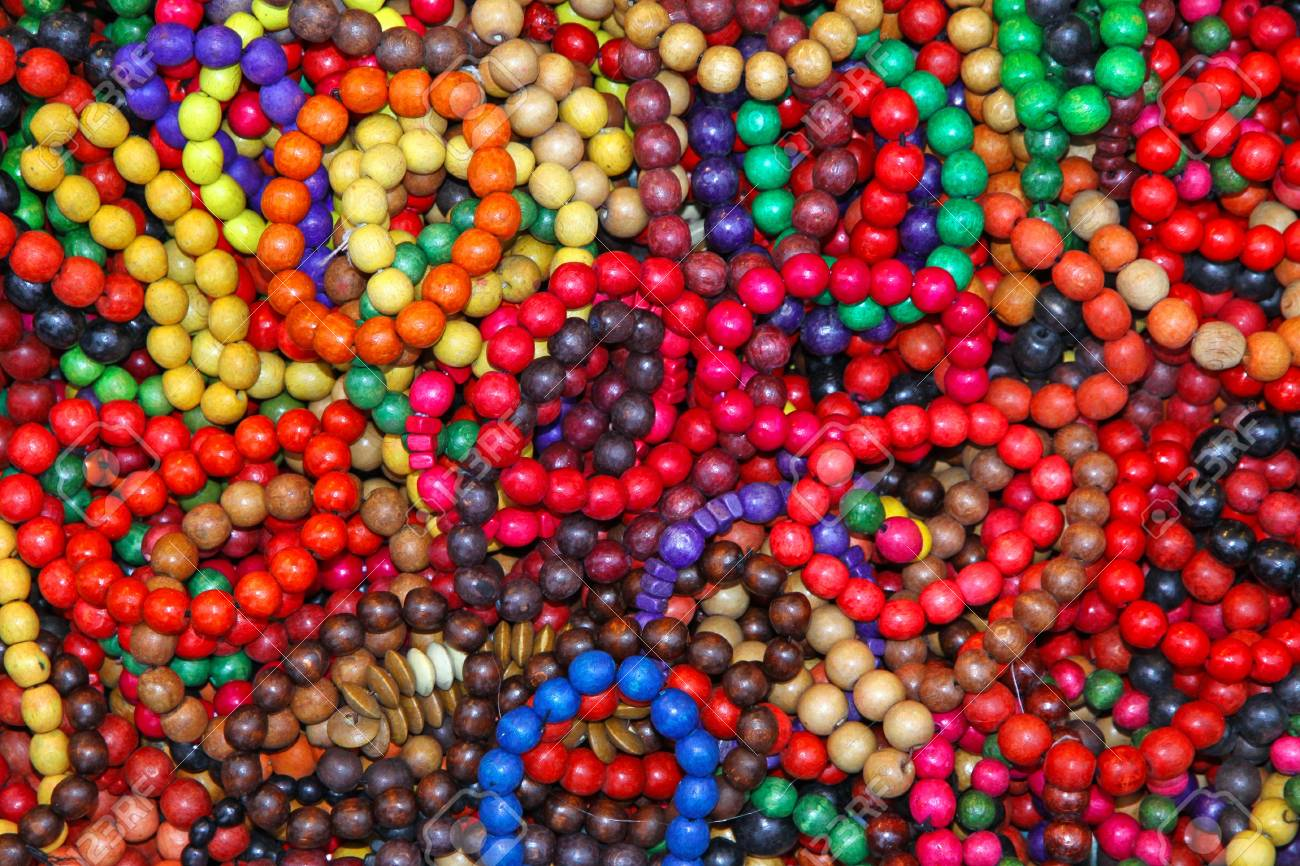 Close-up wooden colourful handmade bracelets Stock Photo - 12899732