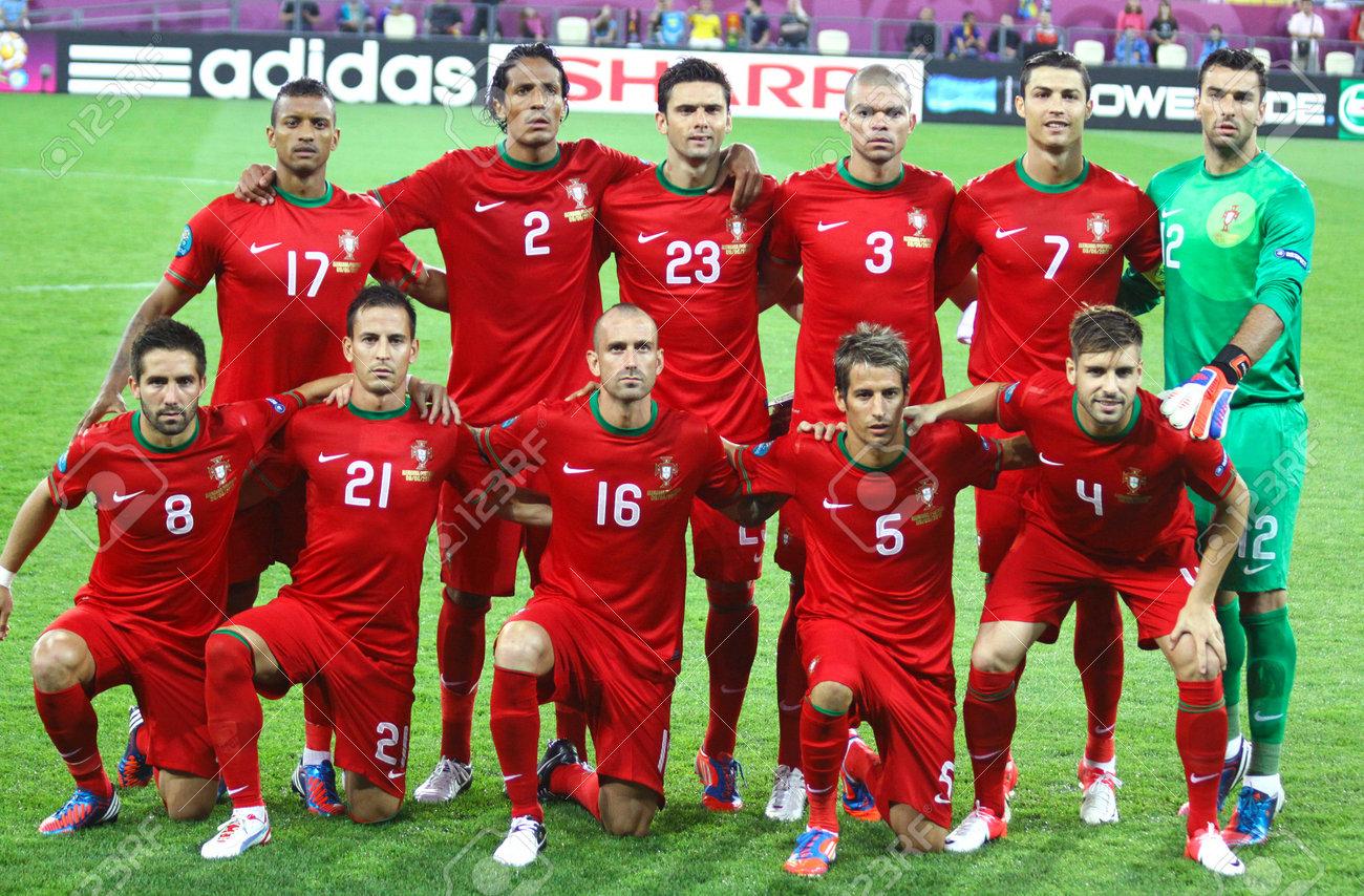 Lviv Ukraine 9 Juin 2012 Portugal Equipe Nationale De Football
