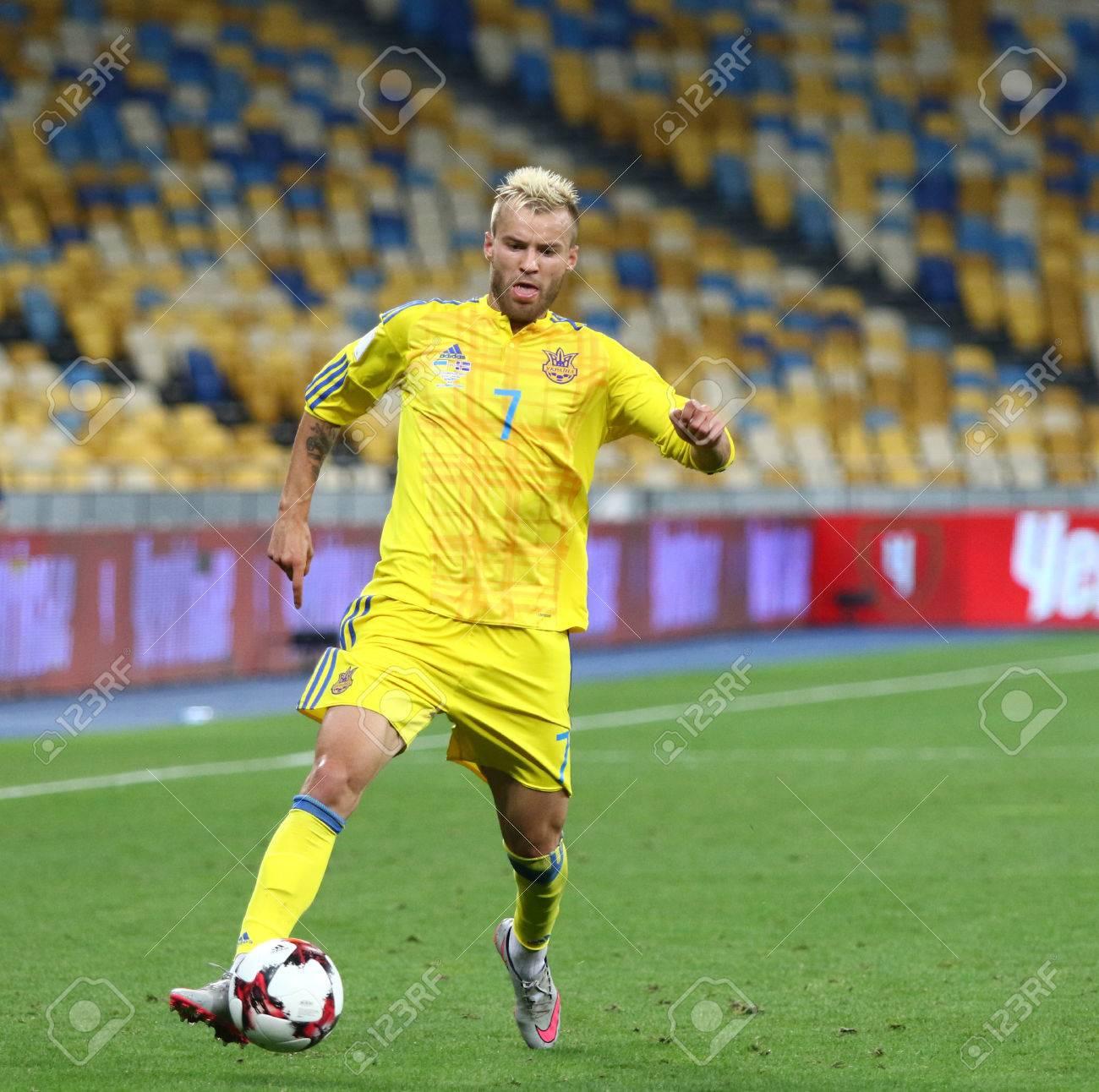 KYIV UKRAINE SEPTEMBER 5 2016 Andriy Yarmolenko Ukraine