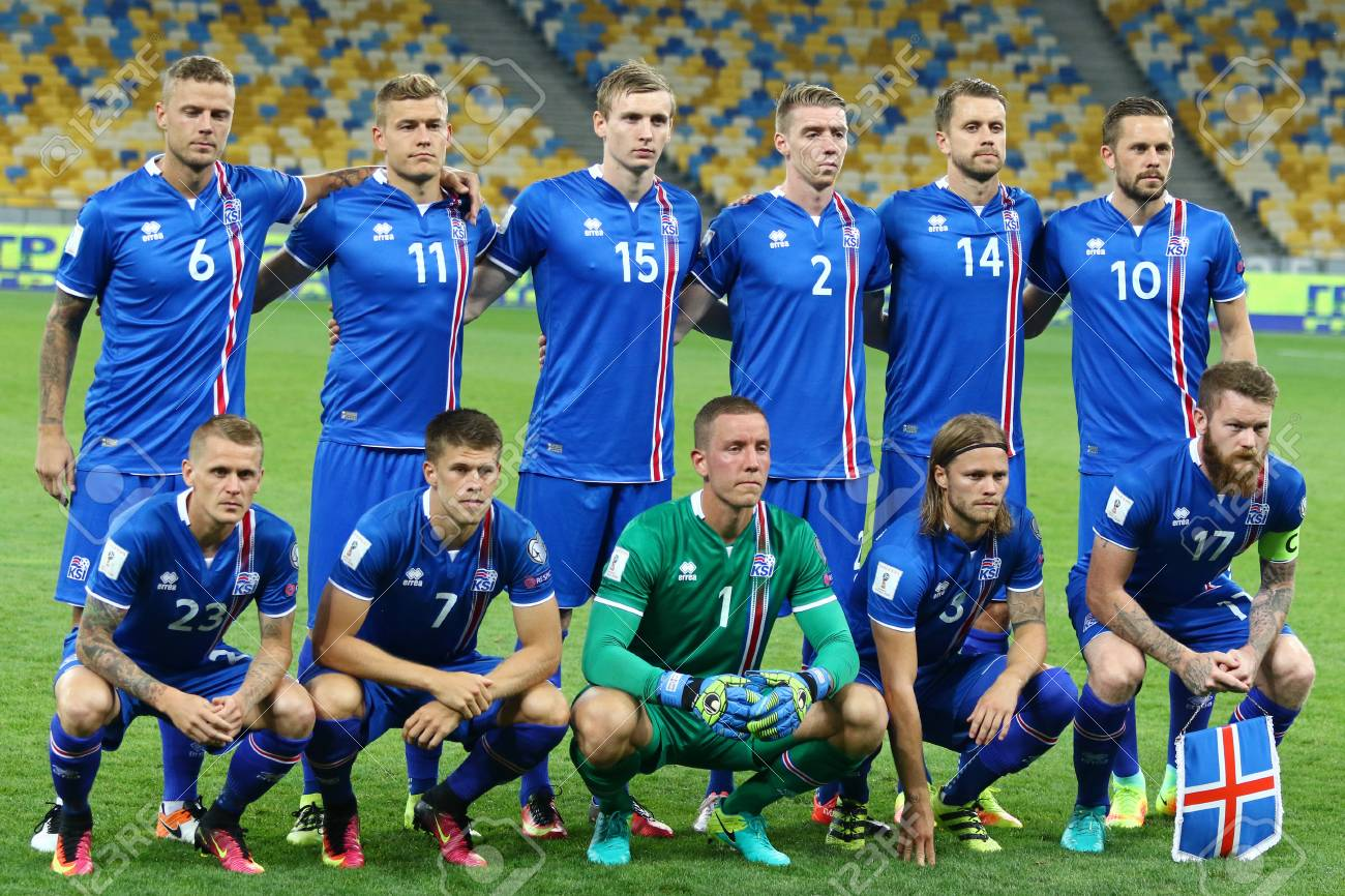 newest 31f98 080a9 KYIV, UKRAINE - SEPTEMBER 5, 2016: Players of Iceland National..