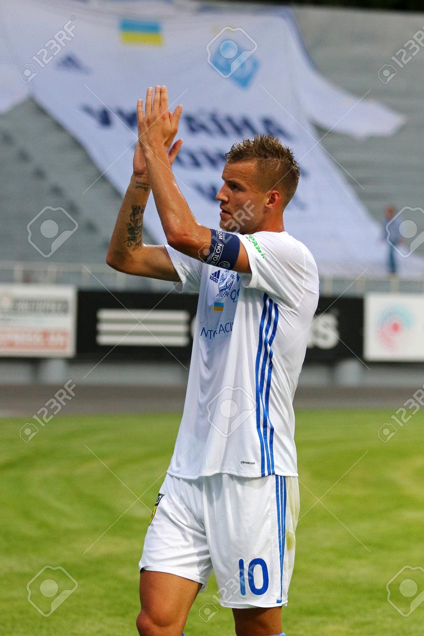 KYIV UKRAINE JULY 18 2017 Andriy Yarmolenko Thanks Fans