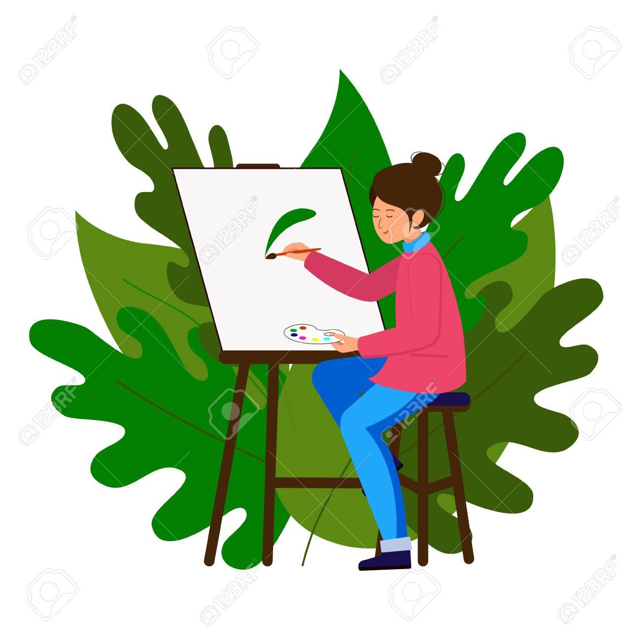 Artist Painting Stool