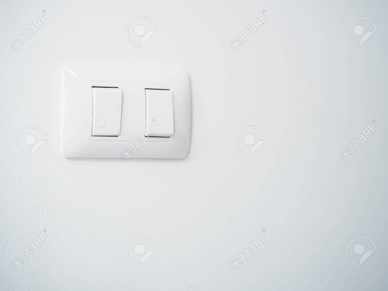 Turn On And Turn Off Switch Symbols With Gray Concrete Or Cement